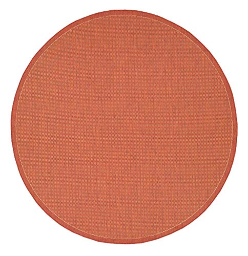 (Couristan 1001/4000 Recife Saddle Stitch Terra Cotta/Natural Rug, 7-Feet 6-Inch Round)