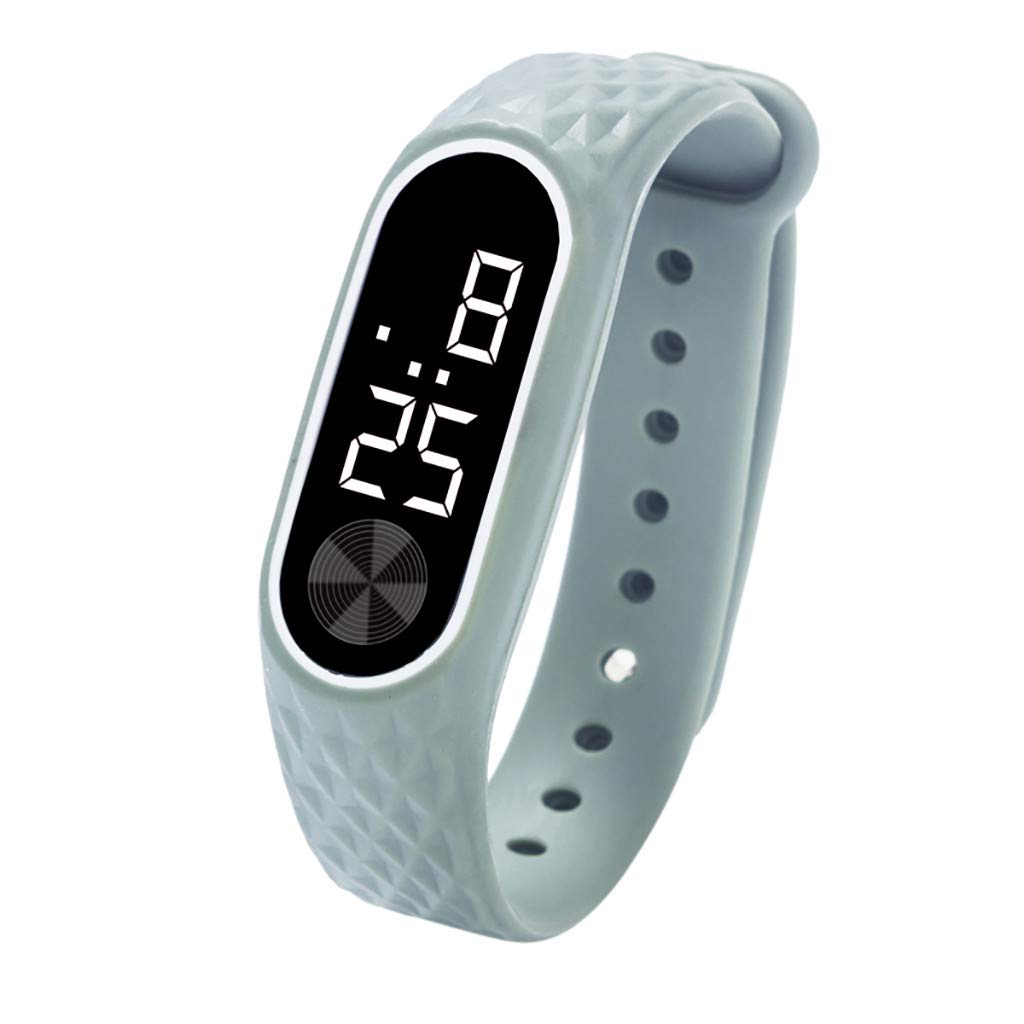 MOSTFA LED Digital Display Watch Bracelet Easy to Buckle Best Gifts Lovely Silica Gel Sports Watch Outdoor Gift