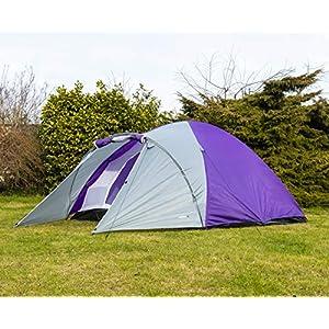 Adtrek – Tente de Camping – Double paroi/en Forme de dôme – Camping/Festival/Famille – 4 Personnes