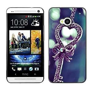 LECELL -- Funda protectora / Cubierta / Piel For HTC One M7 -- Love cute --