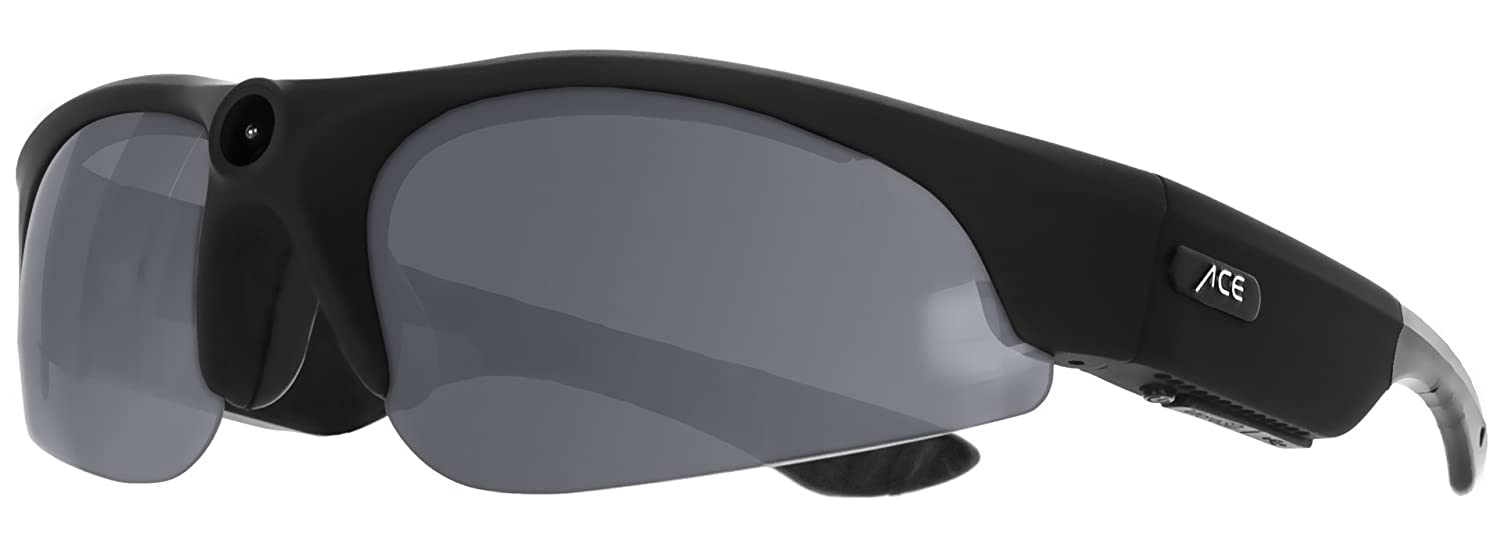 ACE View 2.0   1080p Full-HD Actioncam-Brille   Robuste Brille mit Verstellbarer Action-Kamera für Videos   Perfekt für Sportler
