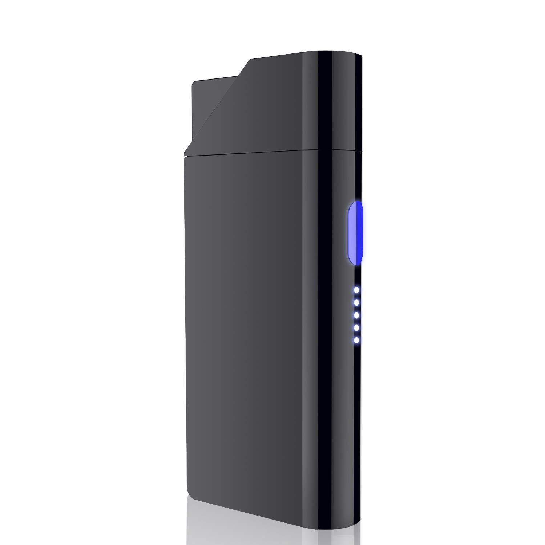 電子ライター プラズマライター Ommani usb充電式 led電池残量表示 防風 おしゃれ 高級感 プレゼント 贈り物 彼氏