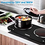 Cusimax Portable Electric Stove, 1800W Infrared