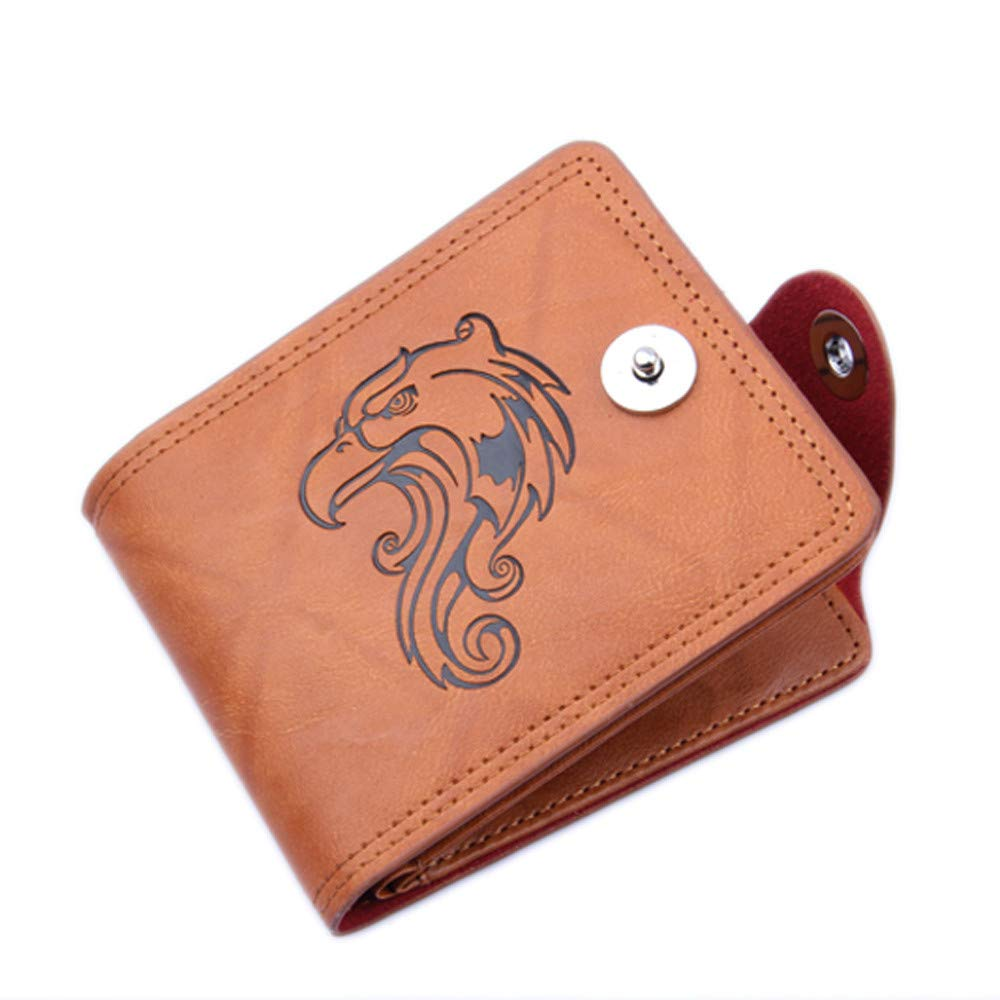 TheRang Men Bifold Business Leather Wallet ID Credit Card Holder Printing Purse Pockets