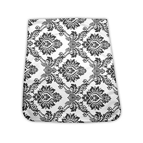 NiYoung Cooling Towel for Instant Relief - Cool Bowling Fitness Yoga Towels - Damask Antique Classical Damask Flowers Pattern Towel Cooling Neck Headband Scarf for Travel Camping Golf Football
