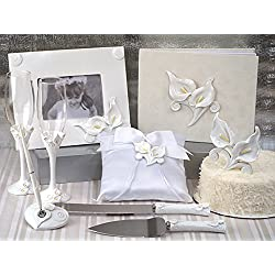 Deluxe 7 PC Classic Calla Lily Set Wedding Set