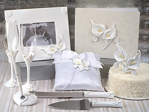 Deluxe 7 PC Classic Calla Lily Set Wedding Set (Calla Lily Wedding Cake)