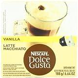 (US) Nescafe Dolce Gusto for Nescafe Dolce Gusto Brewers, Vanilla Latte Macchiato, 16 Count