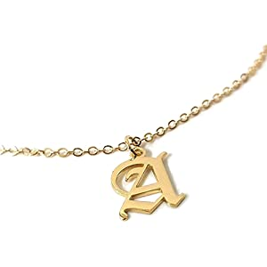 0a2a33a3c0 Amazon.com: Custom number Jewelry Personalized Old English Number ...