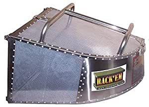 Multi-Mount Stainless Steel/Aluminum 4.4 Cubic Foot Grass Catcher RCMM-EXS4-UN-DP with 1 Face Plate