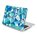 13 Macbook Pro Case, GMYLE Hard Case Print Frosted for MacBook Pro 13 inch - Geometry Pattern Rubber Coated Hard Shell Case Cover