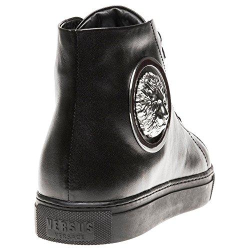 Versus Leeuw Hi-top Heren Sneakers Zwart Zwart