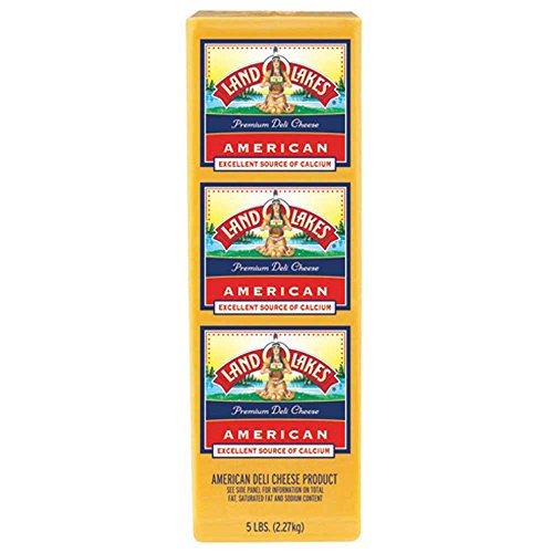 Land O Lakes American Yellow Deli Process Cheese Loaf, 5 Pound -- 6 per case. by Land O Lakes