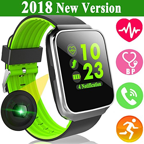 Smart Watch for Android iOS Phones Men Women Fitness Tracker with Bluetooth Heart Rate Blood Pressure Sleep Monitor iGeeKid Sport Wristbands Pedometer Calorie for Travel Outdoor Running