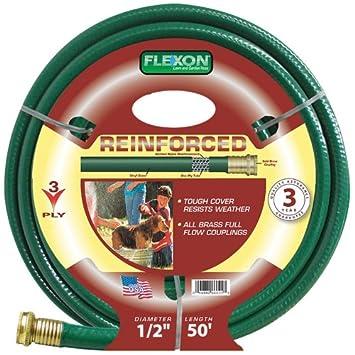 Amazoncom Flexon 12 Inch by 50 Foot Reinforced Garden Hose