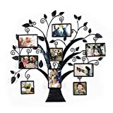 Asense Metal Wall Hanging Tree Photo Frame, 9 Opening Decorative Collage Family Frame Review
