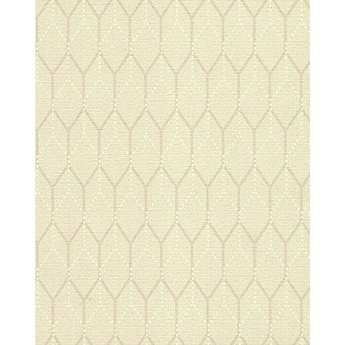 (York Wallcoverings TN0057 Hexagon Shadows Wallpaper Whites)