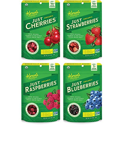 Karen's Naturals Organic Just Berries Variety Pack (Pack of 6) (Packaging May Vary) (Tomatoes Just Veggies compare prices)