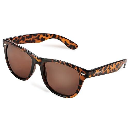 Duduma Wayfarer Gafas de Sol Reflectante Colors Revo Lentes de Espejo Vintage Unisex UV400