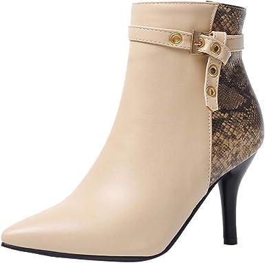 Rétro Femme Plateforme Talon Haut Stilettos bottines bottillons à lacets Chic Chaussures