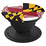 Maryland Flag Lacrosse Girls Women LAX Stick - PopSockets Grip and Stand for Phones and Tablets