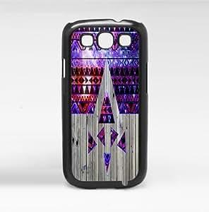 Purple and Pink Nubula Tribal Pattern on Wood Hard Snap on Phone Case (Galaxy s3 III)