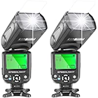 Neewer Two NW-561 Speedlite Flash with LCD Display for Canon Nikon Panasonic Olympus Fujifilm and Other DSLR Cameras Such as Canon 700D 650D 600D,5D Mark II III,and Nikon D7200 D7100 D5200 D5000