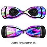 Skin for Self-Balancing Electric Scooter - Sticker for Skate Hover Board - Decal for Self Balance Mobility Longboard - Smart Protective Cover Vinyl Case for 2 Wheel Scoote BoardFit for Swagtron T5
