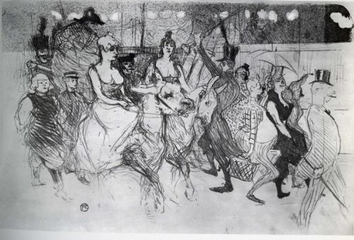Gala Rouge - Artisoo Gala at the Moulin Rouge Oil painting reproduction - Free Shipping Size: 30 x 20 inches - Henri de Toulouse-Lautrec
