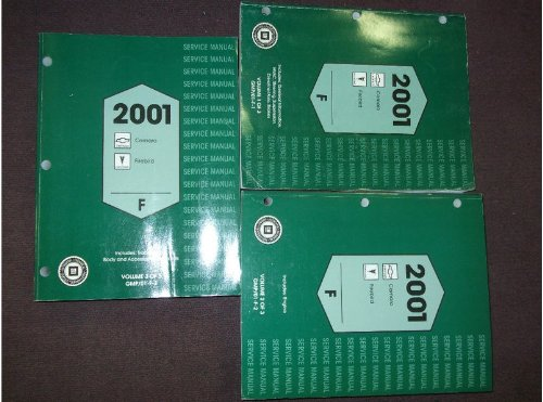 2001 Chevy Camaro Pontiac Firebird Service Shop Repair Manual Set OEM FACTORY (3 volume service manual set.)