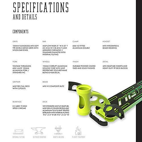 MGP VX9 Pro Global Edition Freestyle Stunt - Patinete, Lime ...