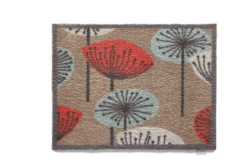 Hug Rug T131 Eco-Friendly Absorbent Dirt Trapping Indoor Washable Mat, 25.5-Inch x 33.5-Inch, Flower Heads