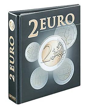 Álbum para monedas 2 Euro [Lindner 3535R], Tapa de anillas ...