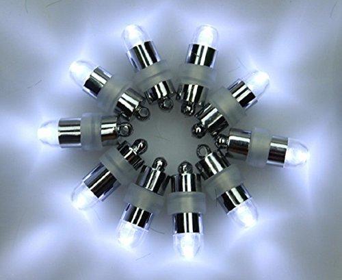 e-lited Wasserdicht Tauchfähig Mini LED Party Lights Hochzeit Mittelpunkt Vase Schale Ballon & Laterne weiß 10Stück
