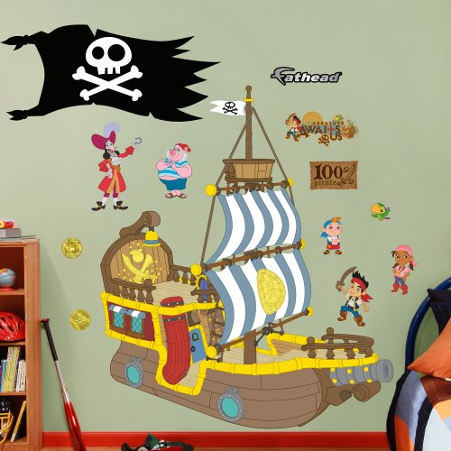 FATHEAD Wall Decal, Real Big, Disney Jake and The Neverland Pirates Bucky Pirate -