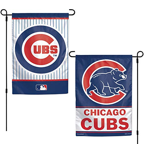 Cubs Chicago Yard - WinCraft MLB Chicago Cubs 12x18 Garden Style 2 Sided Flag, One Size, Team Color