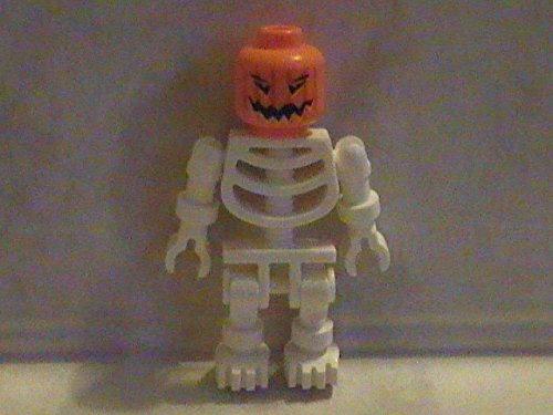 Lego Pumpkin Head Skeleton Halloween Monster Custom Minifigure