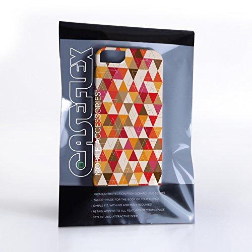 Caseflex iPhone 5 / 5S Hülle Gelb / Rot Geometrisch Dreiecke Muster Hart Schutzhülle