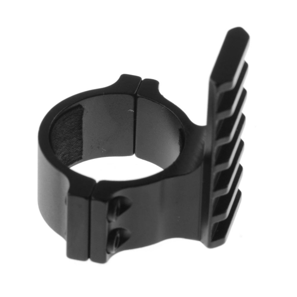 UniqueFire 25.4mm Aluminum Alloy Ring 1 Inch Rail with 4 Slots Detachable Fit for 20mm Picatinny Weaver Style and Flashlight Bracket Holder Scope Mount Y0039