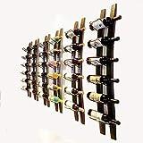 Wall Mounted Wine Rack,Barrel Stave Wine Rack Wall Wine Rack 6 Bottle Wooden Wine Shelves Wall Wall Wine Bottle Holder for Home bar Wall Mounted Wine Racks