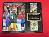 Brett Favre Green Bay Packers 2 Card Collector Plaque w/8x10 Celebration Photo