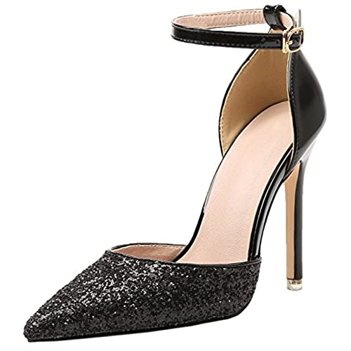 bfef61eee59cf Wedding High Heels By BIGTREE Women D'orsay Dress Pumps Shiny ...