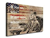 yearainn Wall Art Decor Inspirational Quotes of John F. Kennedy 35th President of The United States American Painting Prints on Canvas for Home Decoration 24 by 36 Inches Framed Ready to Hang
