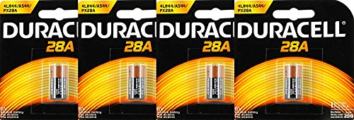 Duracell Medical 28A Alkaline Battery 6V, 4 Count
