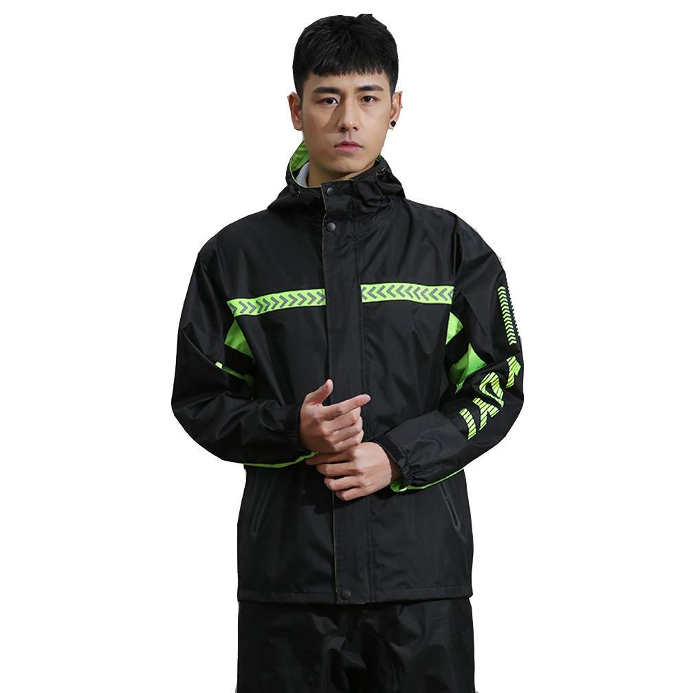 A S DAJOLG Poncho Pluie Impermeable Poncho en Tissu ImperméAble De Haute Qualité,Poncho Homme ImperméAble,(Hauts + Pantalons)