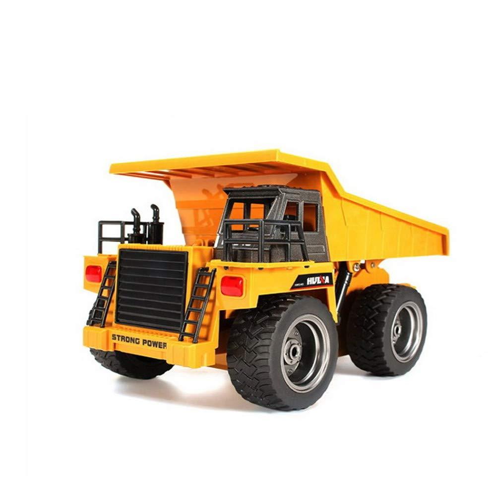 LXWM Remolque De Camión RC 6CH 1/18 2.4G 4 Ruedas Camiones De Descarga De Metal RTR Juguetes De Control Remoto con Carga De La Batería Camión Niños Juguetes
