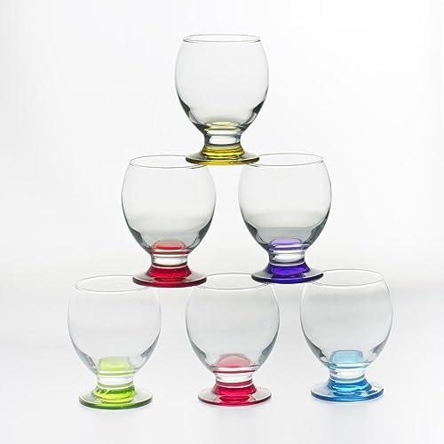 Artcraft 6 Pc Drinking Wine Glasses Set Dinner Glassware Juice Dining 280Ml Gift Glass