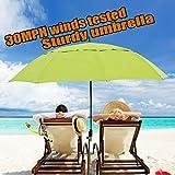 Sun beach umbrella for 2 people with 4.39lb Shade, windproof/waterprool/portable Tilt and Telescoping Pole/Sand Anchor sturdyumbrella, for beach/water pool/patio/park/shadezilla/outdoor travel/ground