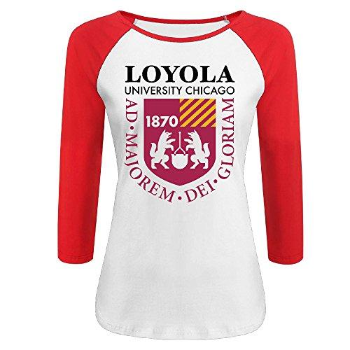 Cincinnati Bengals Heart - Women's Loyola University Chicago 3/4 Sleeve Raglan Baseball T Shirt