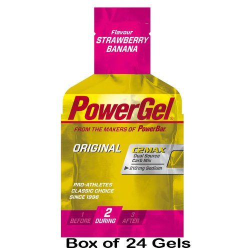 PowerBar Power Gel - 24 x 41g Pack(s) - Strawberry Banana by Powerbar